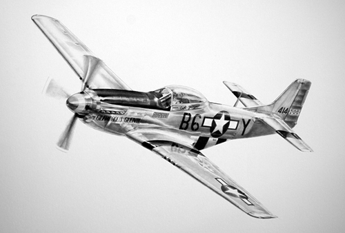 aviation art P51 Mustang