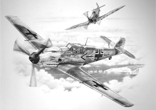 aviation art Bf-109 luftwaffe