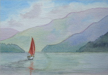 watercolour sailing