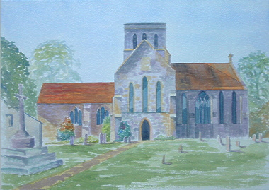 Watercolour Painting Church