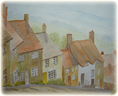 learn Watercolour, watercolour tutorial, perspective, shaftesbury