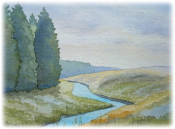 learn Watercolour, watercolour tutorial, trees