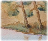 learn Watercolour, watercolour tutorial, painting trees