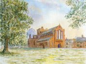 watercolour painting, Lanercost Priory