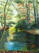 watercolour stream reflections