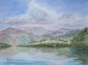 Ullswater in watercolour