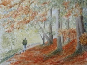 watercolour painting autumn