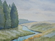 watercolour painting, Butterburn