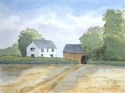 watercolour farm