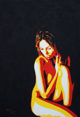 Kneeling Nude Painting